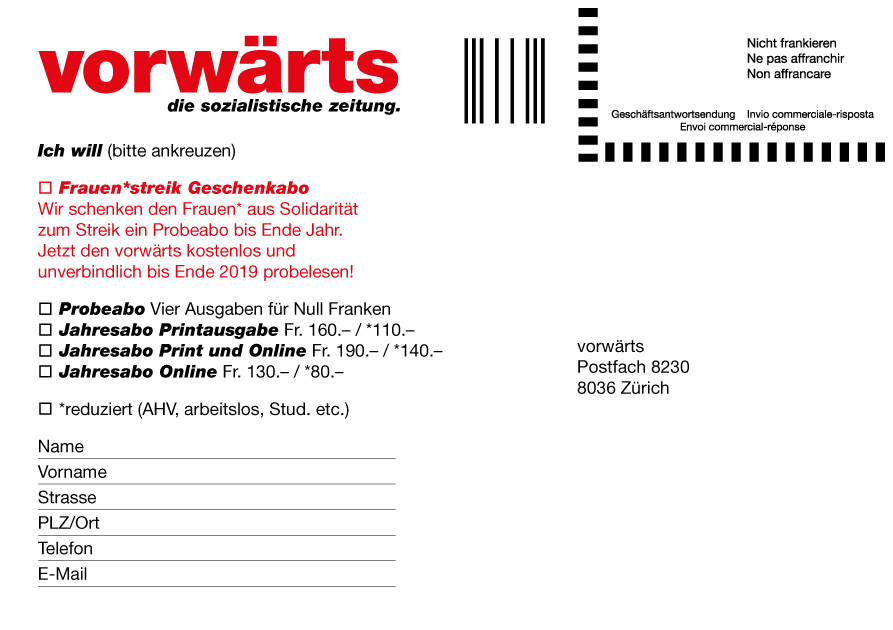 vorwärts-abokarte2_frau_liest_gratis
